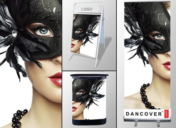 Sistemi espositivi Roll-up, Cavalletti pubblicitari, Banconi decorati e Porta-Brochure