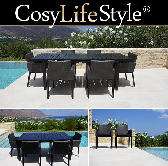 Tavoli e sedie da giardino per accoglienti e confortevoli cene
